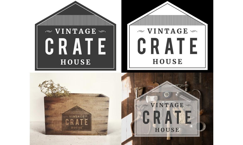 Vintage crate house logo web design birmingham magin for Interior design recruitment agencies birmingham