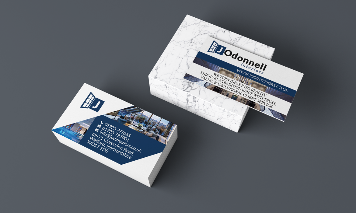 Construction Company Business Cards Magin Web Design